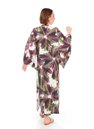 Women&Women Çiçek Desenli Japon Tasarım Kimono Pembe